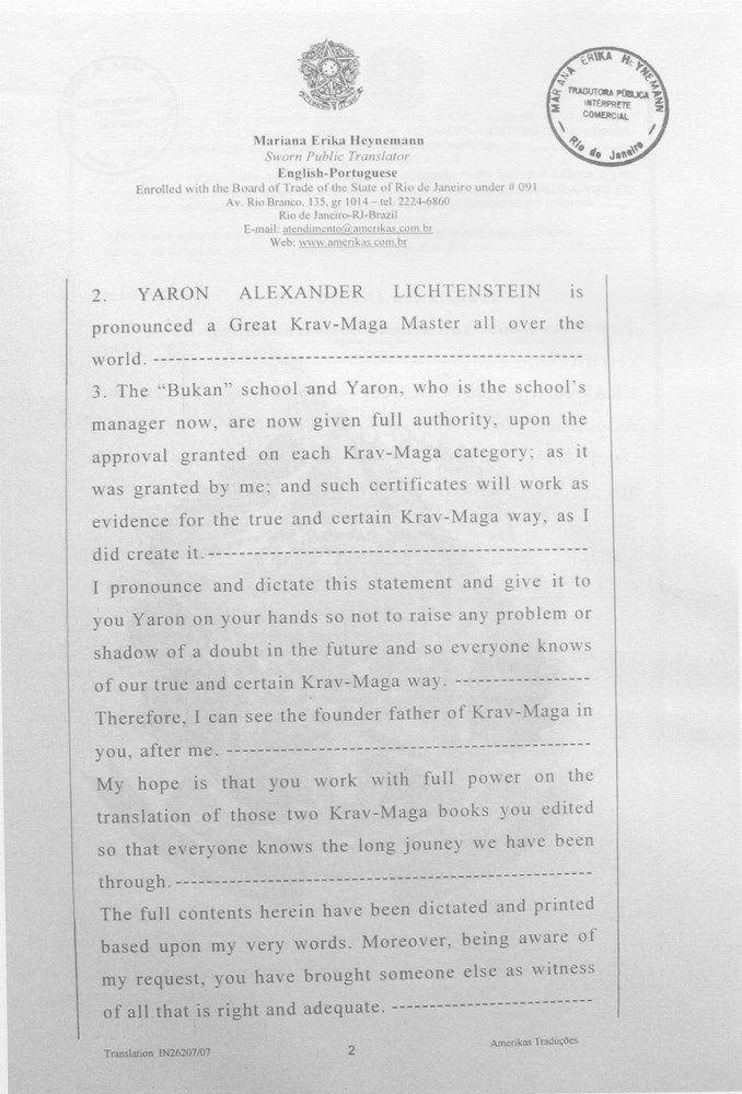 Diploma pentru centura neagră 9 DAN și titlul de Great Krav-Maga Master