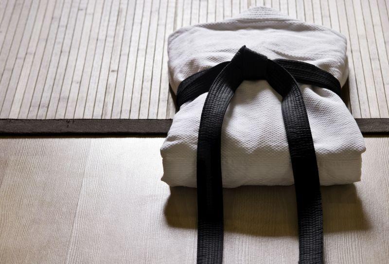 Kimono with black belt