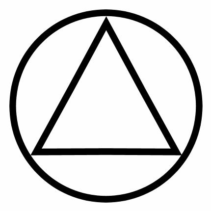 Simbol triunghi în cerc